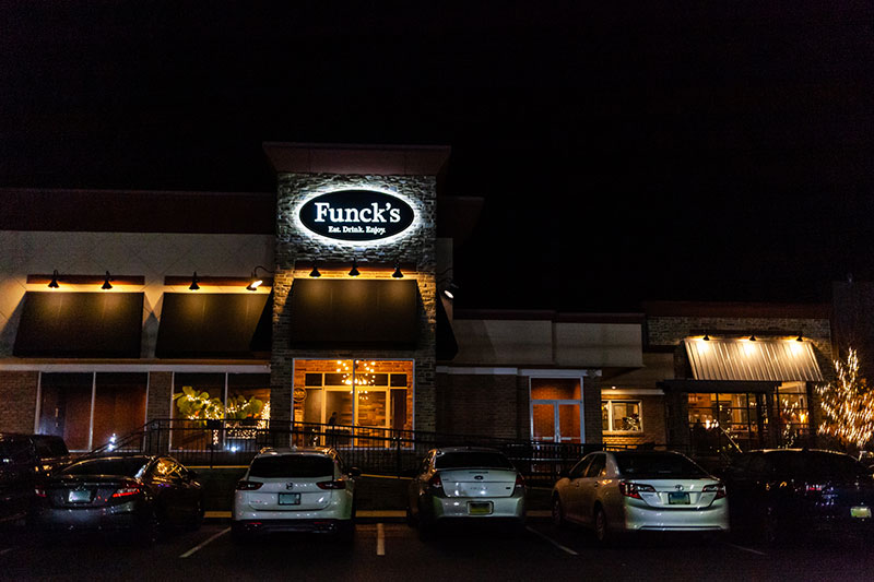 Funck's Restaurant and Taproom Night View Exterior