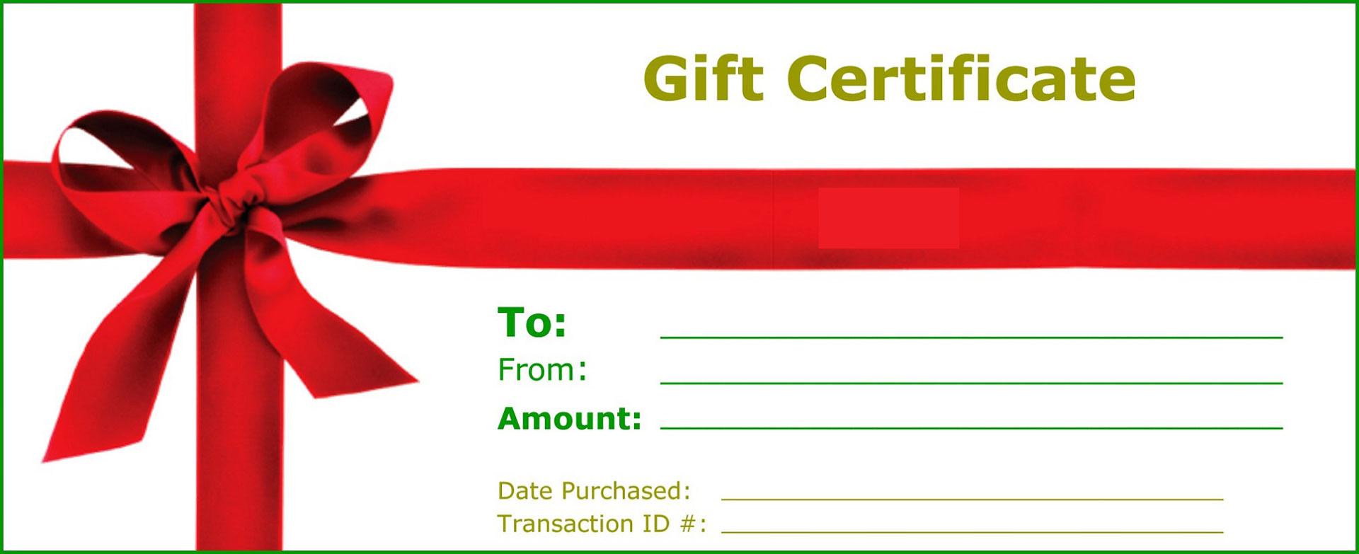Gift Certificate Card