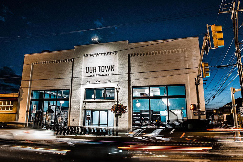 Our Town Brewery Restaurant Exterior