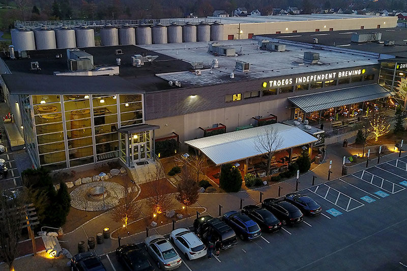 Tröegs Independent Brewing Building Drone View