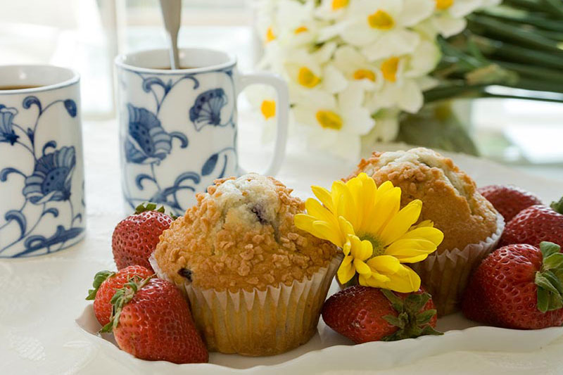 Muffins and Strawberry